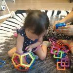 1歳11ヶ月の娘に、踏んでも痛くないパズルを与えてみたら想像以上に楽しそうにしていた話